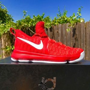 Nike Zoom KD Kevin Durant 9 Red Basketball Shoes